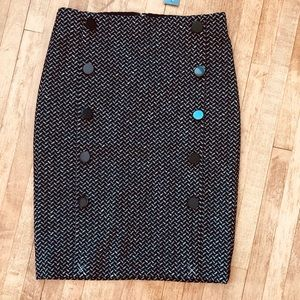 Ann Taylor 0P patterned pencil skirt